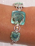 3 Square Glass Bracelet